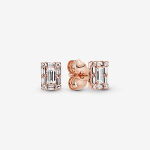 Pandora  Sparkling Square Halo Stud Earrings